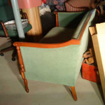 traditional green settee