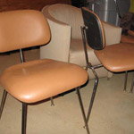 eames chair (4) tan leather